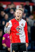 ROTTERDAM - Feyenoord - ADO Den Haag , Voetbal , KNVB Beker , Seizoen 2016/2017 , De Kuip , 14-12-2016 , Feyenoord speler Nicolai Jorgensen viert de 1-0
