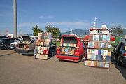 Old book stall, Batumi sea port, Georgia
