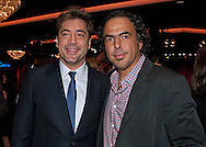 JAVIER BARDEM AND ALEJANDRO GONZALEZ INARRITU.at the Academy of Motion Picture Arts and Sciences' Oscar® Nominees Luncheon, Beverly Hilton_07/02/2011.Academy Awards for outstanding film achievements of 2010 will be presented on Sunday, February 27, 2011 at the Kodak Theatre, Hollywood..MANDATORY PHOTO CREDIT: ©Petit/NEWSPIX INTERNATIONAL . .(Failure to by-line the photograph will result in an additional 100% reproduction fee surcharge. You must agree not to alter the images or change their original content)..            *** ALL FEES PAYABLE TO: NEWSPIX INTERNATIONAL ***..IMMEDIATE CONFIRMATION OF USAGE REQUIRED:Tel:+441279 324672..Newspix International, 31 Chinnery Hill, Bishop's Stortford, ENGLAND CM23 3PS.Tel: +441279 324672.Fax: +441279 656877.Mobile: +447775681153.e-mail: info@newspixinternational.co.uk