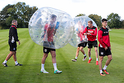 Bristol City play Football Darts from Bristol Bubble Ball Ltd after training - Rogan Thomson/JMP - 30/09/2016 - FOOTBALL - Failand Training Ground - Bristol, England.