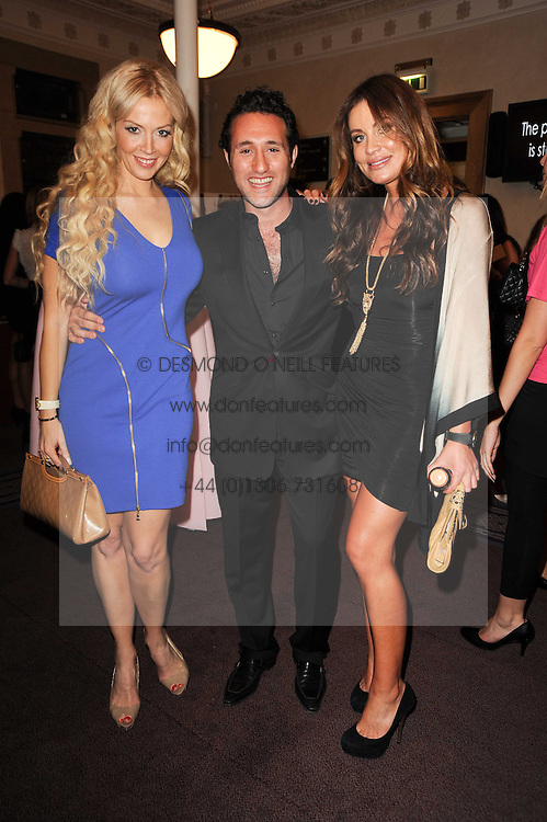 Left to right, LIZ FULLER, ANTHONY COSTA and JO-EMMA LARVIN at the Inspiration Awards For Women held at Cadogan Hall, Sloane Terrace, London on 6th October 2010.