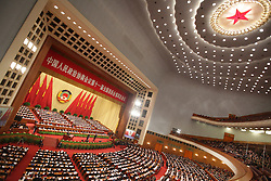 A general view of the opening ceremony of the 4th session of the 11th National Committee of the Chinese People's Political Consultative Conference (CPPCC) at the Great Hall of the People in Beijing, China 03 March 2011. The CPPCC is the top advisory body of the Chinese political system and the session precedes the 8 days of annual plenary meetings of the 11th National People's Congress (NPC) which is due to commence 05 March 2011. The two meetings are the first public declaration of the goals of the next five year plan and lay the groundwork for the economic and political direction of the country