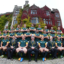 LONDON, ENGLAND - OCTOBER 16: Team photograph  during the South African national rugby team Official team photograph at Pennyhill Park on October 16, 2015 in London, England. (Photo by Steve Haag/Gallo Images)
