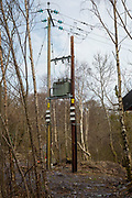 An 11kV line, installed next to the hydro control room. Energy Local Bethesda, North Wales. © Andy Aitchison / Ashden