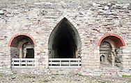 19th century lime kilns near Lindisfarne Castle, Holy Island (Lindisfarne), Northumberland, UK