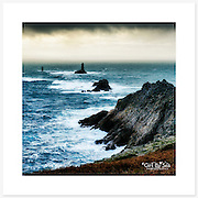 La Pointe du Raz, Bretagne, France - Colour version. Inkjet pigment print on Canson Infinity Rag Photographique 310gsm 100% cotton museum grade Fine Art and photo paper.<br />
