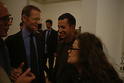 NICHOLAS SEROTA, MATTHEW SLOTOVER AND AMANDA SHARP. Private view for the Turner prize  2005.  Tate. Britain. 17 October 2005. ONE TIME USE ONLY - DO NOT ARCHIVE © Copyright Photograph by Dafydd Jones 66 Stockwell Park Rd. London SW9 0DA Tel 020 7733 0108 www.dafjones.com