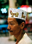Satay vendor at Lau Pa Sat hawker center