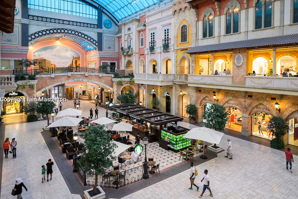 Italian themed Mercato shopping mall in Dubai United Arab Emirates
