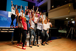Girls during event Miss Sports of Slovenia 2013, on April 20, 2013, in Festivalna dvorana, Ljubljana, Slovenia. (Photo by Urban Urbanc / Sportida.com)