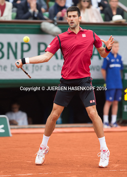 Novak Djokovic (SRB) Herren Finale, Endspiel,<br /> <br /> Tennis - French Open 2016 - Grand Slam ITF / ATP / WTA -  Roland Garros - Paris -  - France  - 5 June 2016.