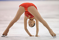 epa01680494 Yu-Na Kim of Korea skates during the Ladies' Free Skating at the World Figure Skating Championships in Los Angeles, California, USA, 28 March 2009.  EPA/ANDREW GOMBERT