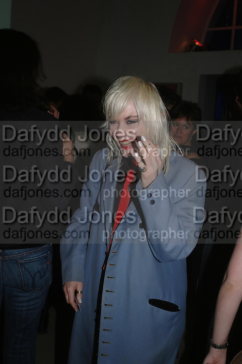 Pam Hogg. Art Plus dance fundraising party. Whitechapel gallery. 21 March 2005. ONE TIME USE ONLY - DO NOT ARCHIVE  © Copyright Photograph by Dafydd Jones 66 Stockwell Park Rd. London SW9 0DA Tel 020 7733 0108 www.dafjones.com