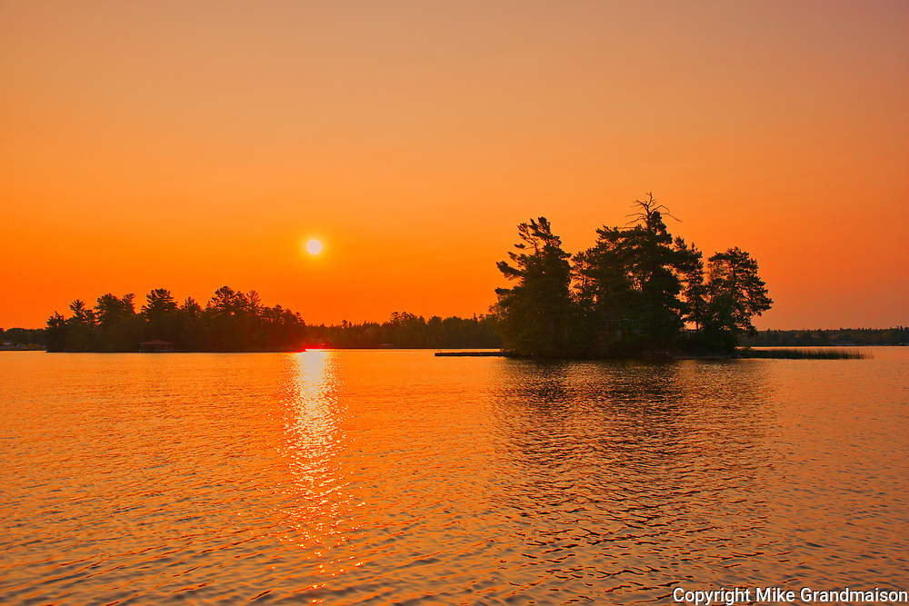 Sunrise on Lake of the Woods<br />