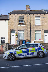 © Licensed to London News Pictures. 08/07/2015. Barnsley, UK. Two people have died in a house fire on Cherry Tree Street in Elscar, Barnsley. A man & woman were pronounced dead after the blaze at about 18:50 on Tuesday. A South Yorkshire Fire & Rescue spokesman said despite the considerable efforts of firefighters & ambulance crews at the scene, both sale passed away. Photo credit : Andrew McCaren/LNP