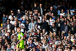 Fulham fans make their displeasure with Paul McShane of Reading known as he walks past - Rogan Thomson/JMP - 13/05/2017 - FOOTBALL - Craven Cottage - London, England - Fulham v Reading - Sky Bet EFL Championship Play-Off Semi Final 1st Leg.