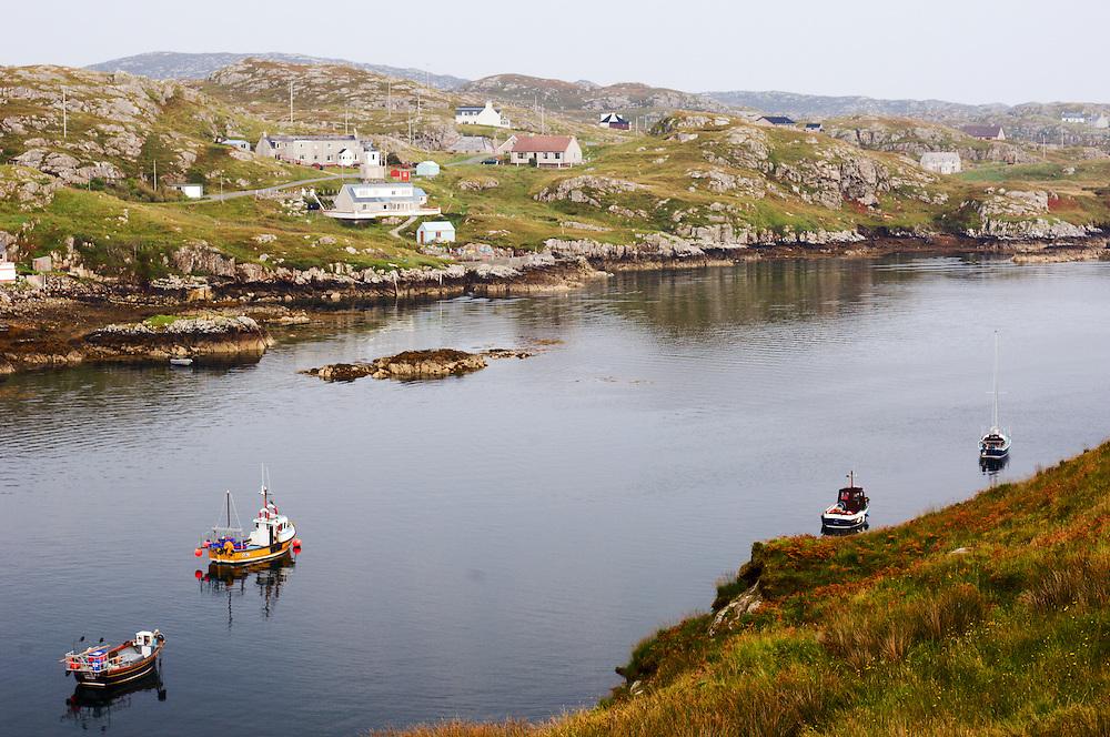 Boats anchored at Scalpay (horizontal)