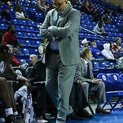 Delaware 87ers Head Coach Rod Baker seen pacing the sideline first half of a NBA D-league regular season basketball game between the Delaware 87ers and Idaho Stampede Thursday, Dec. 12, 2013 at The Bob Carpenter Sports Convocation Center, Newark, DE