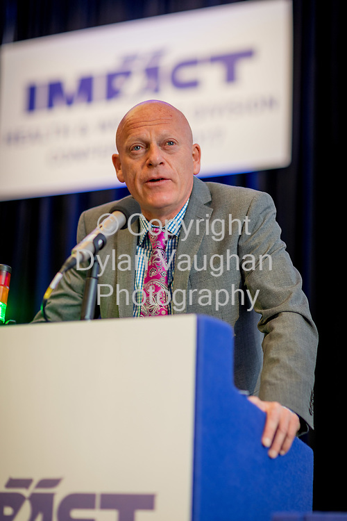 1-6-17<br />  <br /> Eamonn Donnelly, National Secretary Health and Welfare pictured at the IMPACT Health and Welfare Division Conference in Wexford.<br /> Picture Dylan Vaughan.