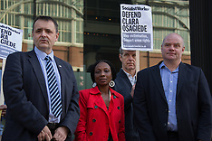 15 Apr.2015 - RMT protest against Interserve sacking of Clara Osagiede