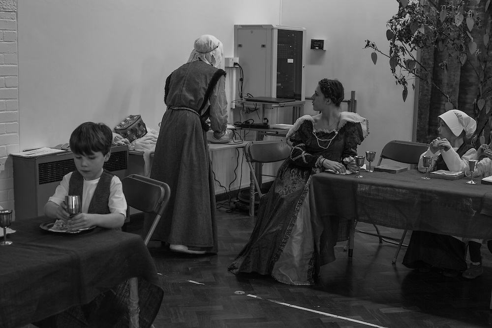 Teacher's and students dressed in period costumes take part during a middle ages history day at school in Berkhamsted, England  Wednesday, March 16, 2016 (Elizabeth Dalziel) #thesecretlifeofmothers #bringinguptheboys #dailylife