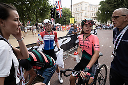 Esther van Veen (NED) of Parkhotel Valkenburg Cycling Team cools down after the Prudential RideLondon Classique, a 68 km road race starting and finishing in London, United Kingdom on August 3, 2019. Photo by Balint Hamvas/velofocus.com