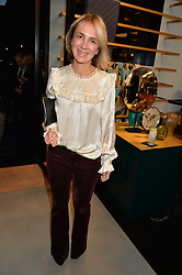 SAHAR HASHEMI at the launch of the new Frette store at 43 South Audley Street, London on 6th October 2016.
