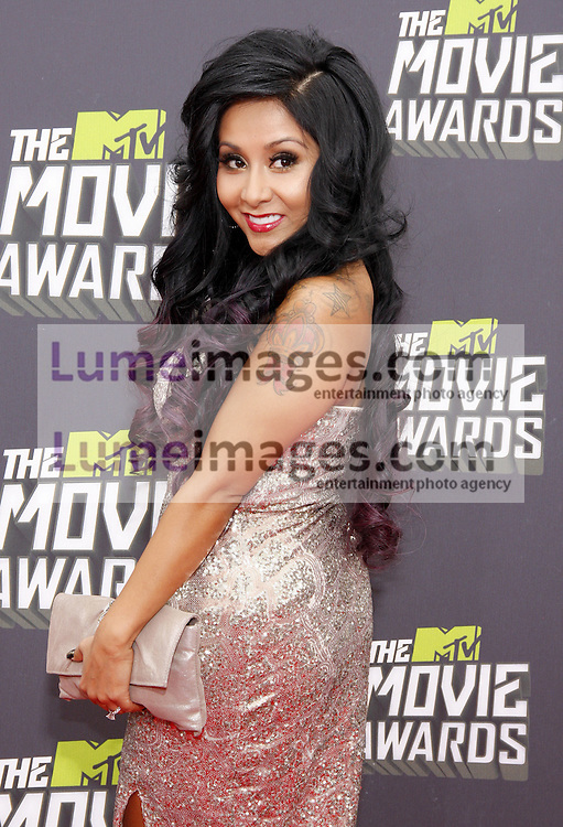 Nicole Polizzi at the 2013 MTV Movie Awards held at the Sony Pictures Studios in Los Angeles, USA on April 14, 2013.