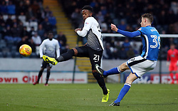 Jermaine Anderson of Peterborough United closes down a clearance from Joe Bunney of Rochdale - Mandatory by-line: Joe Dent/JMP - 25/11/2017 - FOOTBALL - Crown Oil Arena - Rochdale, England - Rochdale v Peterborough United - Sky Bet League One