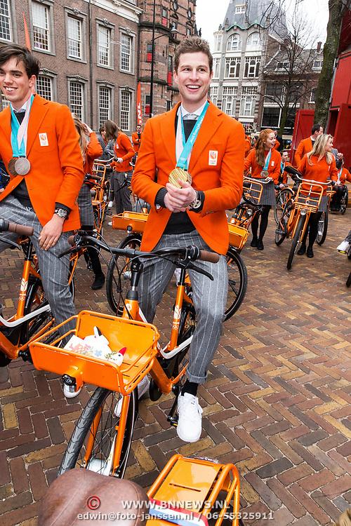 NLD/Den Haag/20180323 - Huldiging Olympische en Paralympische medaillewinnaars, Patrick Roest en Sven Kramer