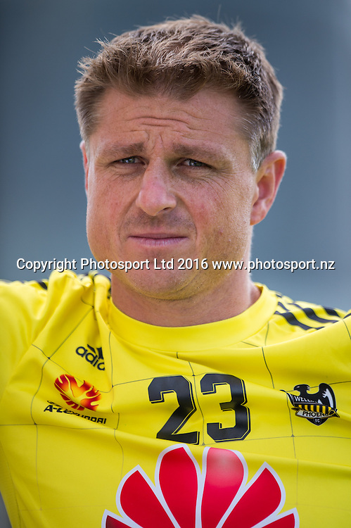 Ben Sigmund of the Phoenix looks on during a Wellington Phoenix A-League training session at AMI Stadium in Christchurch, New Zealand. 29 January 2016. Photo: Kai Schwoerer / www.photosport.nz
