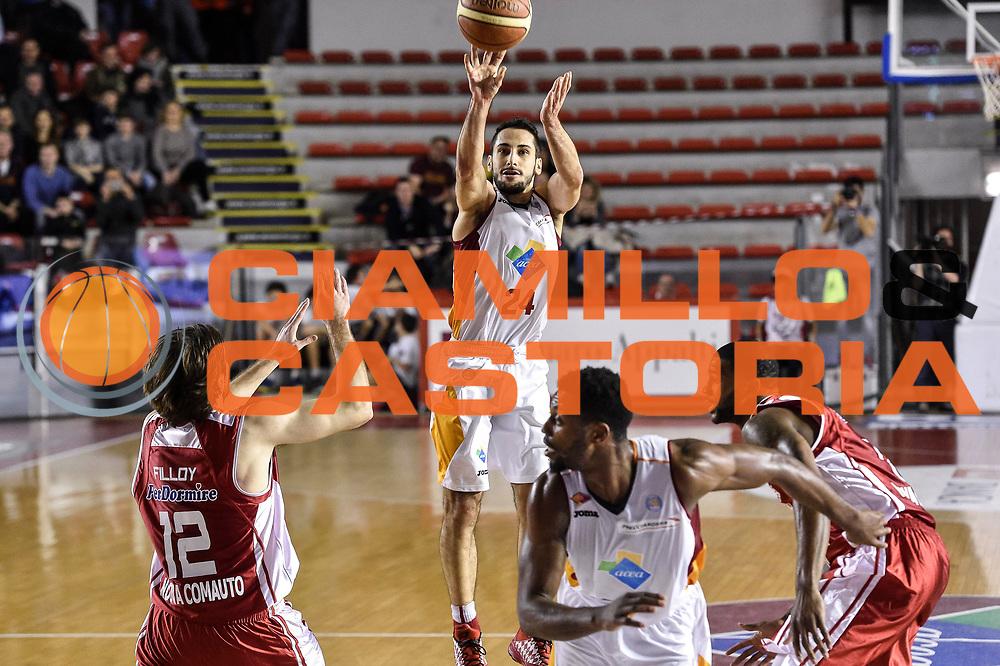 DESCRIZIONE : Campionato 2014/15 Virtus Acea Roma - Giorgio Tesi Group Pistoia<br /> GIOCATORE : Rok Stipcevic<br /> CATEGORIA : Tiro Tre Punti Three Points<br /> SQUADRA : Virtus Acea Roma<br /> EVENTO : LegaBasket Serie A Beko 2014/2015<br /> GARA : Dinamo Banco di Sardegna Sassari - Giorgio Tesi Group Pistoia<br /> DATA : 22/03/2015<br /> SPORT : Pallacanestro <br /> AUTORE : Agenzia Ciamillo-Castoria/GiulioCiamillo<br /> Predefinita :