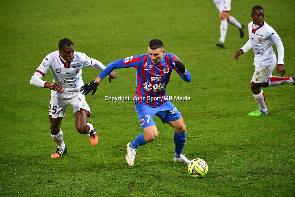 Mathieu DUHAMEL / Romain GENEVOIS - 06.12.2014 - Caen / Nice - 17eme journee de Ligue 1 -<br />