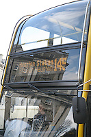 Bus travelling to Huston Station in Dublin Ireland