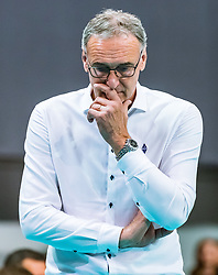 17.04.2019, Olympiahalle Innsbruck, Innsbruck, AUT, VBL, Deutsche Volleyball Bundesliga, HYPO Tirol Alpenvolleys Haching vs Berlin Recycling Volleys, Halbfinale, 3. Spiel, im Bild Trainer Stefan Chrtiansky (Tirol) // during the German Volleyball Bundesliga (VBL) 3rd semifinal match between HYPO Tirol Alpenvolleys Haching and Berlin Recycling Volleys at the Olympiahalle Innsbruck in Innsbruck, Austria on 2019/04/17. EXPA Pictures © 2019, PhotoCredit: EXPA/ JFK