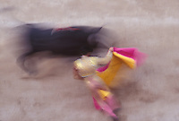 Bullfight in >Arles, Provence, France, during the Feria de Paques, the Easter festival. - Photograph by Owen Franken