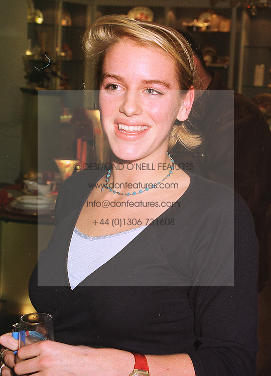 MISS LAURA PARKER BOWLES daughter of Camilla Parker Bowles, at a party in London on 13th October 1998.MKT 158