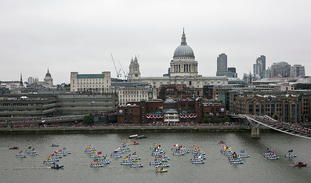 03/06/2012. .London, UK. The Jubilee Pageant.The Royal Jubilee Celebrations,Great Britain celebrates the 60th anniversary or the countries Monarch HRH Queen Elizabeth II accession to the throne this weekend. . Photo credit : © Andrew Baker