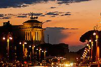 Italia - Roma - Vista do Monumento Vittorio Emanuele II - Foto: Gabriel Lordello/ Mosaico Imagem