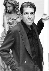 Dec 13, 1989; Toronto, ON, CANADA; File Photo: Date Unknown; Singer LEONARD COHEN was recently in Granada to film a video for 'Small Viennese Waltz', his offering on Poets in New York, and album celebrating Federico Garcia Lorca. .  (Credit Image: Toronto Star/ZUMAPRESS.com)