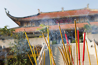 Incense Sticks Burning Outside of Temple