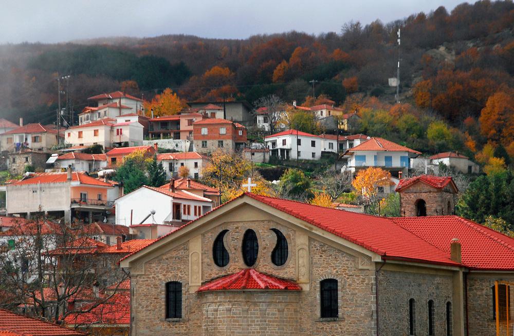 The village Verdikousia in Larissa Prefecture, Thessaly region, central Greece.