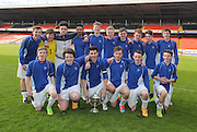 St Johns  with the trophy after beating Craigie High in the U16 Dundee United Cup Final <br /> <br />  - &copy; David Young - www.davidyoungphoto.co.uk - email: davidyoungphoto@gmail.com
