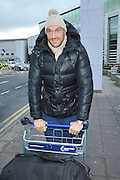 EXCLUSIVE<br /> THE NEXT TIME TYSON FURY STEPS INTO A BOXING RING IT WILL BE TO TAKE ON WORLD HEAVYWEIGHT CHAMPION OF 11 YEARS VLADIMAR KLITSCHKO.....TYSON FURY IS PICTURED AT MANCHESTER AIRPORT LATE ON SUNDAY AFTERNOON BEFORE CHECKING IN AND FLYING TO GERMANY<br /> ©Exclusivepix Media