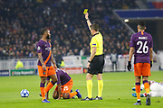Yellow card Fernandinho of Manchester City during the UEFA Champions league, Group F football match between Olympique Lyonnais and Manchester City on November 27, 2018 at Groupama stadium in Decines-Charpieu near Lyon, France - Photo Romain Biard / Isports / ProSportsImages / DPPI