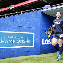 Juan Manuel Leguizamon emerges from the tunnel before the Argentina Captains Run at Twickenham Stadium, Twickenham - 07/10/2016<br />