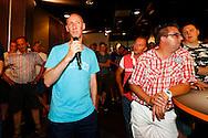 02-07-2015 VOETBAL:FORUM AVOND:WILLEM II:TILBURG<br /> In het Koning Willem II stadion werd vanavond een forumavond gehouden waar supporters vragen kon stellen aan Jurgen Streppel, trainer van Willem II, Carlos Aalbers, technisch manager en Berry van Gool, algemeen directeur van Willem II<br /> <br /> Foto: Geert van Erven
