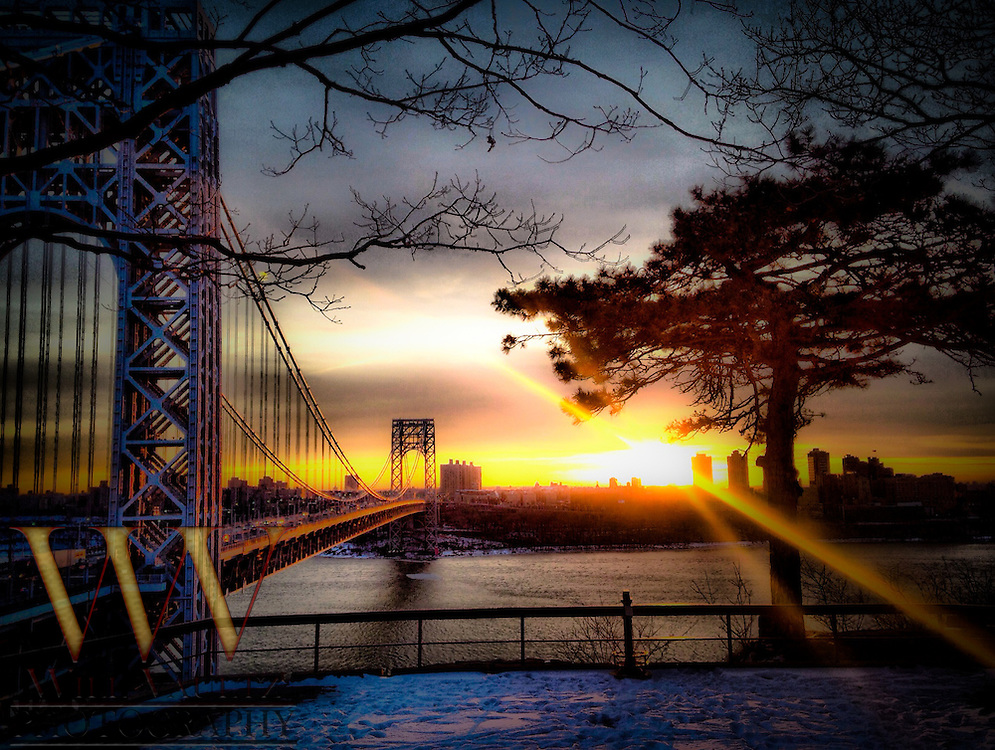 George Washington Bridge Morning HDR