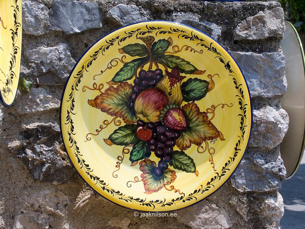 Handmade Ceramics, Ravello, Amalfi Coast; Campania, Italy, Europe, World Heritage Site