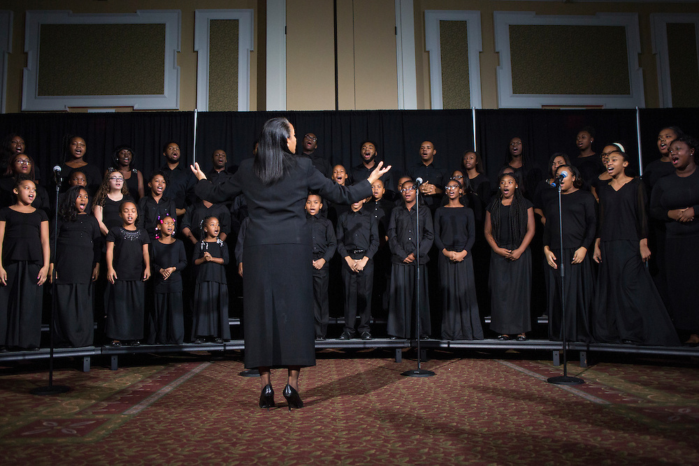 The Singing Sensations Youth Choir, directed by Dr. Hollie Hood-Mincey, perform at the Martin Luther King Jr. Day brunch on Jan. 16, 2017.